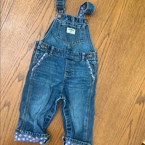 OshKosh Overalls with Floral Print 18m